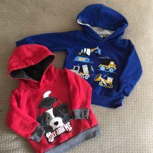 2 kids headquarters hoodies size 18 months